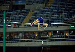 2nd Lt. Sam Kendricks wins pole vault bronze at Rio Olympic Games, Aug. 15, 2016 (28737749770).jpg