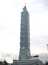 Menara Taipei 101 di Taiwan.