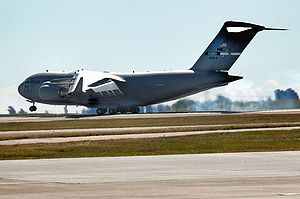 Fourth Air Force - The newest Boeing C-17A Globemaster III, 06-6164, arrives at Travis AFB