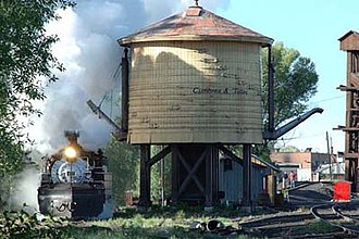 Cumbres and Toltec Scenic Railroad - Image: 487 at water