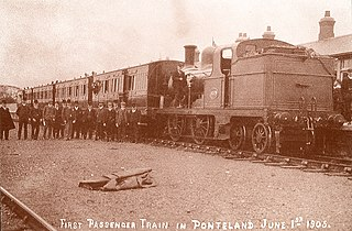 Ponteland Railway Partially operational railway line in Northumberland and Tyne and Wear