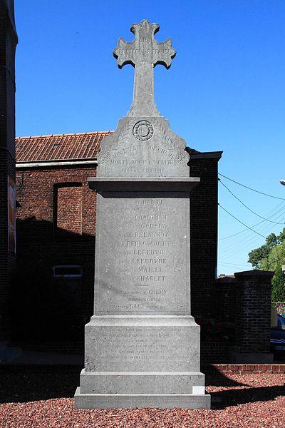 Monument aux Morts - Cimetière, rue d'Eglise, 59 Chemy