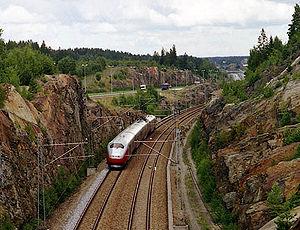 Østfold Line - NSB Class 73 train south of Vestby Station