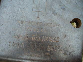 8 cm FK M. 5 - Image: 8 cm FK M5 cannon 3