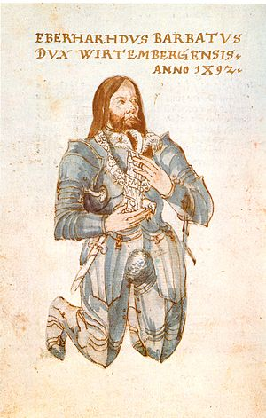 Eberhard I, Duke of Württemberg - Eberhard im Bart, 1492.