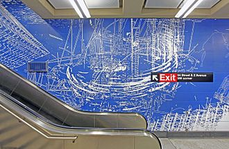 "Sarah Sze - ""Blueprint for a Landscape"" by Sarah Sze at the 96th Street subway station"