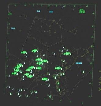Boston Consolidated TRACON - A Manchester area scope at the Boston TRACON.