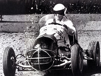A. J. Foyt - Foyt in a midget car in 1961