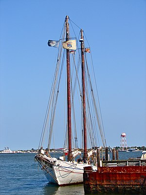National Register of Historic Places listings in Cumberland County, New Jersey - Image: AJ Meerwald Cape May Harbor