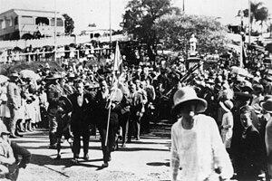Anzac spirit - Anzac Day at Manly, Brisbane, Queensland, Australia (1922)