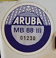 ARUBA 1988 -THIRD QUARTER STICKER used (JUL-SEP 1988) PLATE ^A-10047 pic 2 - Flickr - woody1778a.jpg