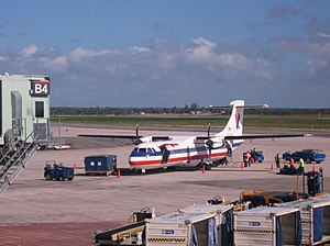 Executive Airlines - An American Eagle (Executive Airlines) Super ATR 72 at Santo Domingo Airport, Dominican Republic