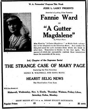 A Gutter Magdalene - Newspaper advertisement