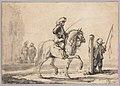 A Mounted Grey Horse Being Schooled in Piaffe MET DP834222.jpg