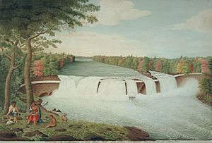 Genesee River - Image: A View of the Casconchiagon or Great Seneca Falls Thomas Davies