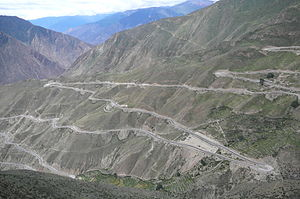 "Hengduan Mountains - A bird's-eye view of the ""Nujiang 72 turns""in Tibet."