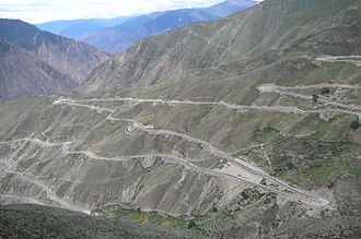 "Salween River - A bird's-eye view of the ""Nujiang 72 turnings"" in Tibet."
