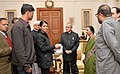 A delegation of the 'All India Federation of The Deaf' led by its President, Kum. Surrender Saini meeting the President, Shri Pranab Mukherjee, on the occasion of the Flag Week of The Deaf, at Rashtrapati Bhavan.jpg