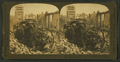 A fire engine caught and crushed by a falling wall, Post St., San Francisco Disaster, U.S.A, from Robert N. Dennis collection of stereoscopic views.png