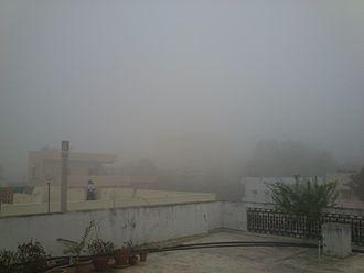 Geography of Hyderabad - A foggy day in Hyderabad