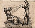 A practictioner of Mesmerism using Animal Magnetism Wellcome V0011094ET.jpg
