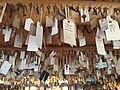 A sampling of the keys hung from the ceiling in the Key Room at The Baldpate Inn.jpg