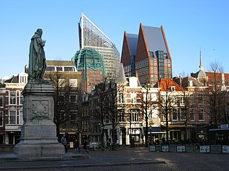 Hoftoren - Image: A square in the center of the Hague