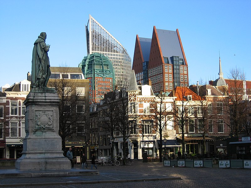 File:A square in the center of the Hague.jpg