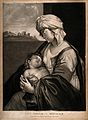 A woman holding her sleeping baby after breast feeding it. M Wellcome V0015034.jpg