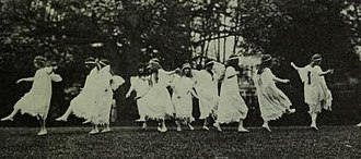 Abbot Academy - Students performing Masque of the Flowers circa 1874