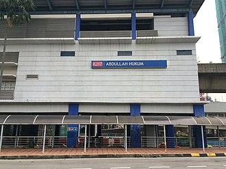 Abdullah Hukum LRT station - Image: Abdullah Hukum Main Building