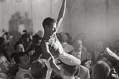 Abebe Bikila triumphant 1960