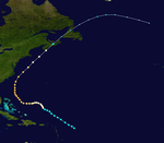 Weather map featuring the first hurricane of the season