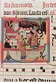 Abt und Konvent im Klosterhof Lorcher Chorbuch WLB Stuttgart Cod. mus. I fol. 64 132r.jpg