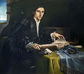 Portrait of a gentleman in his studio