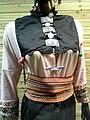 Achang woman brocade dress detail - Yunnan Nationalities Museum - DSC04292.JPG