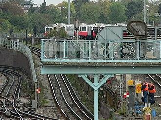 Acton Town tube station - Image: Acton Depot from Gunnersbury Lane