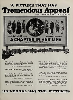 A Chapter in Her Life - Advertisement for film