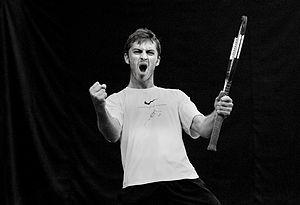 Adam Davidson (tennis) - Adam Davidson competing in the ATP World Tour $50,000 Challenger in Cherkasy, Ukraine. August 27, 2007