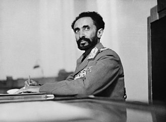 Rastafari - Emperor Haile Selassie I of Ethiopia, considered by Rastas to be the reincarnation of Christ.