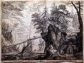 Aegidius sadeler, artista che disegna sulle rocce, 1600, acquaforte e bulino.jpg