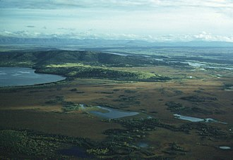 Big Delta, Alaska - Aerial view of Big Delta region