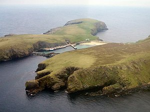 Aerial view of North Haven, Fair Isle - geograph.org.uk - 17893.jpg