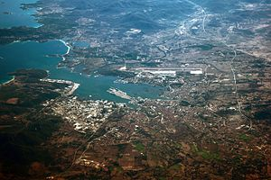 Olbia - Image: Aerial view of Olbia