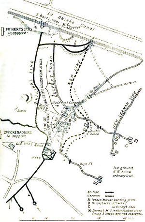 Winter operations 1914–1915 - Image: Affairs of Cuinchy 29 January, 1 and 6 February 1915