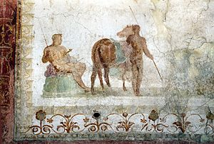 Domus Transitoria - Fresco from the nymphaeum of the domus transitoria, 54-64 AD
