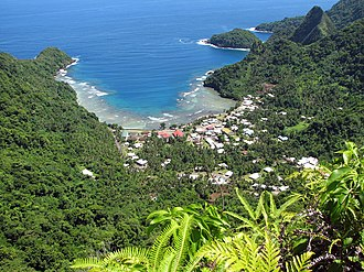 Territories of the United States - Afono village in American Samoa.