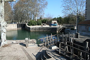 Agde Round Lock - The round lock at Agde
