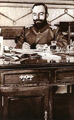 Ahmed Djemal at desk, 1915
