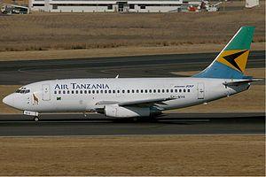 Air Tanzania - An ATCL B737 at OR Tambo International Airport in July 2006